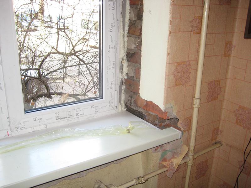 Установка пластиковых окон своими руками в кирпичном доме 974